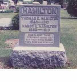 HAMILTON, NANCY EVELINE - Union County, Ohio | NANCY EVELINE HAMILTON - Ohio Gravestone Photos