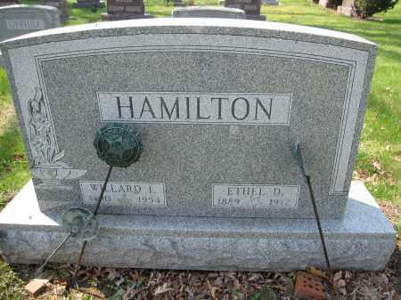 HAMILTON, ETHEL D. SHAW - Union County, Ohio | ETHEL D. SHAW HAMILTON - Ohio Gravestone Photos