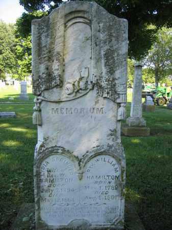 HAMILTON, WILLIAM - Union County, Ohio | WILLIAM HAMILTON - Ohio Gravestone Photos