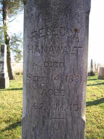 HANAWALT, REBECCA - Union County, Ohio | REBECCA HANAWALT - Ohio Gravestone Photos