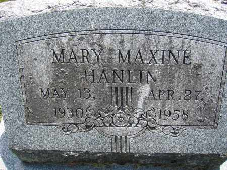 HANLIN, MARY MAXINE - Union County, Ohio | MARY MAXINE HANLIN - Ohio Gravestone Photos