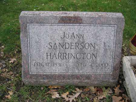 HARRINGTON, JOANN SANDERSON - Union County, Ohio | JOANN SANDERSON HARRINGTON - Ohio Gravestone Photos