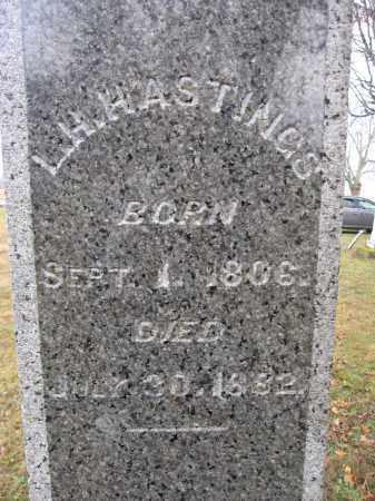 HASTINGS, LAZARUS H. - Union County, Ohio | LAZARUS H. HASTINGS - Ohio Gravestone Photos