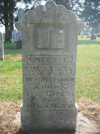 HATCHER, UNITY L. - Union County, Ohio | UNITY L. HATCHER - Ohio Gravestone Photos