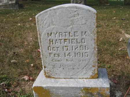 HATFILED, MYRTLE M. - Union County, Ohio | MYRTLE M. HATFILED - Ohio Gravestone Photos