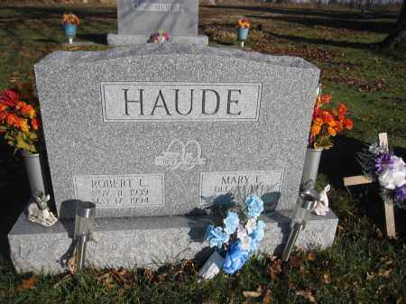 HAUDE, MARY E. - Union County, Ohio | MARY E. HAUDE - Ohio Gravestone Photos