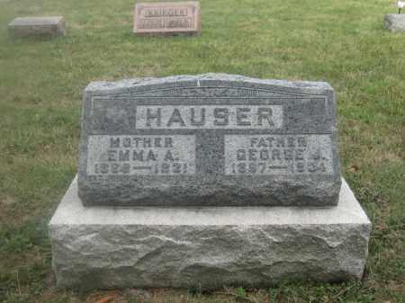 HAUSER, EMMA A. - Union County, Ohio   EMMA A. HAUSER - Ohio Gravestone Photos