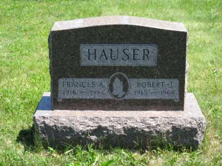 HAUSER, FRANCES A. - Union County, Ohio | FRANCES A. HAUSER - Ohio Gravestone Photos