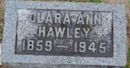 HAWLEY, CLARA ANN - Union County, Ohio | CLARA ANN HAWLEY - Ohio Gravestone Photos