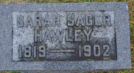 HAWLEY, SARAH SAGER - Union County, Ohio | SARAH SAGER HAWLEY - Ohio Gravestone Photos