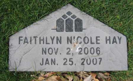HAY, FAITHLYN NICOLE - Union County, Ohio | FAITHLYN NICOLE HAY - Ohio Gravestone Photos
