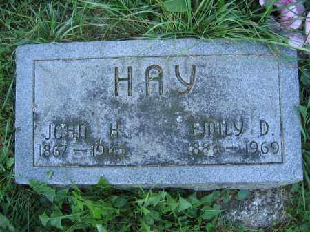 HAY, EMILY D. - Union County, Ohio | EMILY D. HAY - Ohio Gravestone Photos