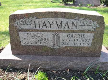 HAYMAN, CARRIE - Union County, Ohio | CARRIE HAYMAN - Ohio Gravestone Photos