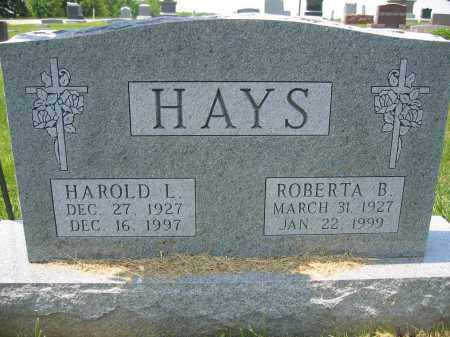 HAYS, ROBERTA B. - Union County, Ohio | ROBERTA B. HAYS - Ohio Gravestone Photos