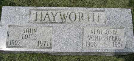 HAYWORTH, APOLLONIA VONDENBERG - Union County, Ohio | APOLLONIA VONDENBERG HAYWORTH - Ohio Gravestone Photos