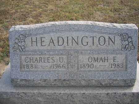 HEADINGTON, CHARLES U. - Union County, Ohio | CHARLES U. HEADINGTON - Ohio Gravestone Photos