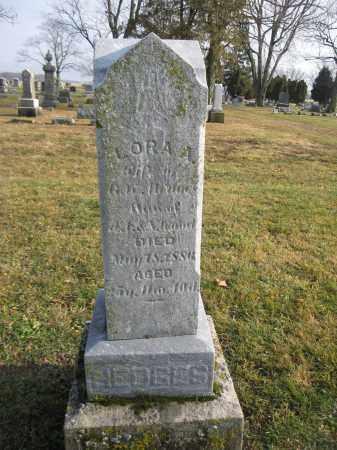 HEDGES, LORA A. - Union County, Ohio | LORA A. HEDGES - Ohio Gravestone Photos