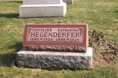HEGENDERFER, GOTTLIEB - Union County, Ohio | GOTTLIEB HEGENDERFER - Ohio Gravestone Photos