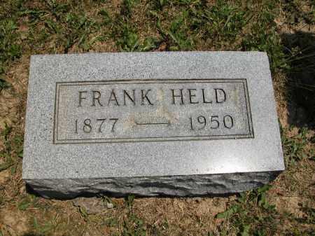 HELD, FRANK - Union County, Ohio | FRANK HELD - Ohio Gravestone Photos
