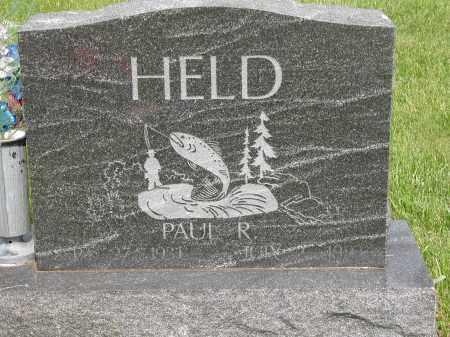 HELD, PAUL R. - Union County, Ohio | PAUL R. HELD - Ohio Gravestone Photos