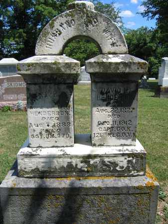 HENDERSON, DAVID H - Union County, Ohio | DAVID H HENDERSON - Ohio Gravestone Photos