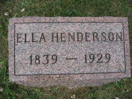 HENDERSON, ELLA - Union County, Ohio | ELLA HENDERSON - Ohio Gravestone Photos