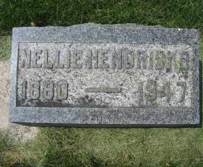 HENDRICKS, NELLIE - Union County, Ohio   NELLIE HENDRICKS - Ohio Gravestone Photos