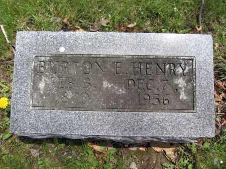HENRY, BURTON E. - Union County, Ohio   BURTON E. HENRY - Ohio Gravestone Photos