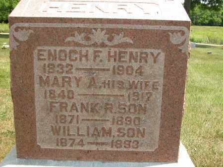 HENRY, MARY A. - Union County, Ohio | MARY A. HENRY - Ohio Gravestone Photos