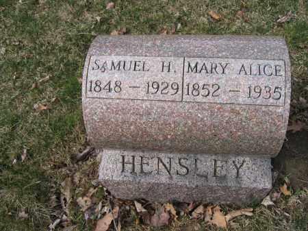 HENSLEY, SAMUEL H. - Union County, Ohio   SAMUEL H. HENSLEY - Ohio Gravestone Photos