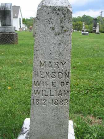 HENSON, MARY - Union County, Ohio | MARY HENSON - Ohio Gravestone Photos