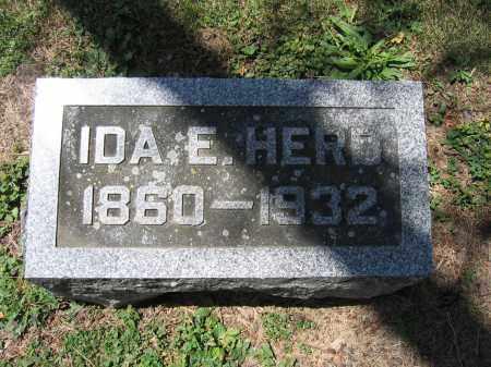 HERD, IDA E. - Union County, Ohio | IDA E. HERD - Ohio Gravestone Photos