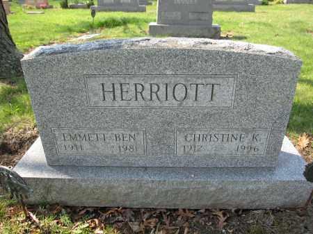HERRIOTT, CHRISTINE K. - Union County, Ohio | CHRISTINE K. HERRIOTT - Ohio Gravestone Photos