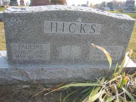 HICKS, PAULINE - Union County, Ohio | PAULINE HICKS - Ohio Gravestone Photos