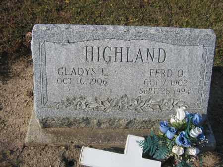 HIGHLAND, GLADYS L. - Union County, Ohio   GLADYS L. HIGHLAND - Ohio Gravestone Photos