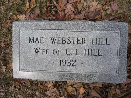 HILL, MAE WEBSTER - Union County, Ohio | MAE WEBSTER HILL - Ohio Gravestone Photos
