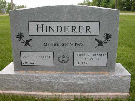 BENNETT HINDERER, EDNA R. - Union County, Ohio | EDNA R. BENNETT HINDERER - Ohio Gravestone Photos