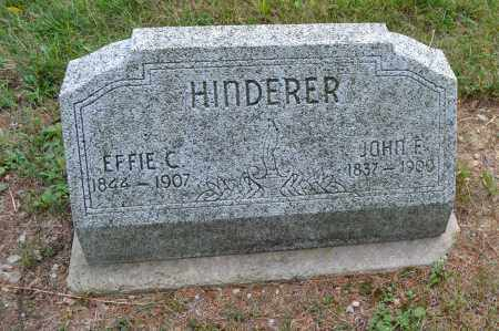 HINDERER, EFFIE C. - Union County, Ohio | EFFIE C. HINDERER - Ohio Gravestone Photos