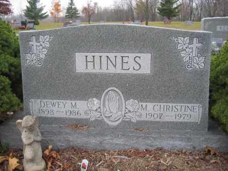 HINES, DEWEY M. - Union County, Ohio | DEWEY M. HINES - Ohio Gravestone Photos
