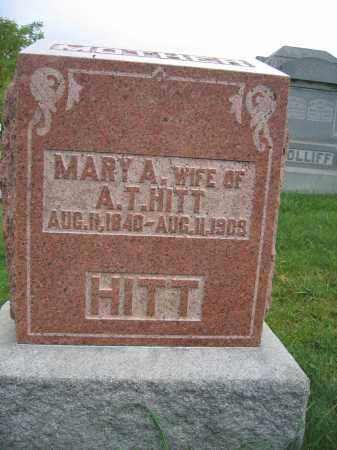 HITT, MARY A. - Union County, Ohio | MARY A. HITT - Ohio Gravestone Photos