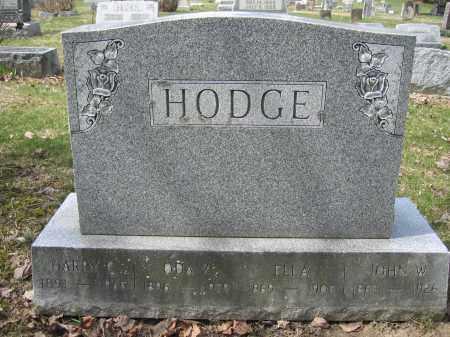 HODGE, ELLA - Union County, Ohio | ELLA HODGE - Ohio Gravestone Photos