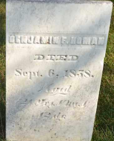 HOMAN, BENJAMIN F. - Union County, Ohio   BENJAMIN F. HOMAN - Ohio Gravestone Photos