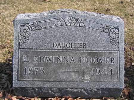 HOOVER, E. EDWINNA - Union County, Ohio | E. EDWINNA HOOVER - Ohio Gravestone Photos