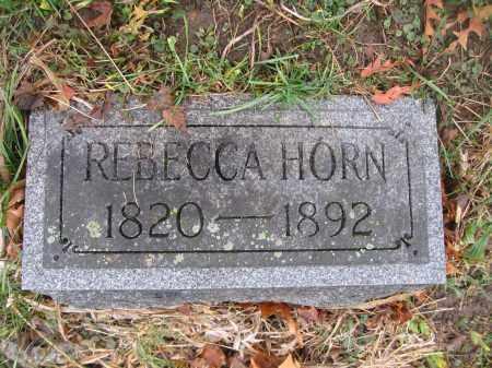 HORN, REBECCA - Union County, Ohio | REBECCA HORN - Ohio Gravestone Photos