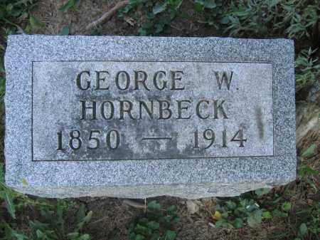 HORNBECK, GEORGE W. - Union County, Ohio   GEORGE W. HORNBECK - Ohio Gravestone Photos