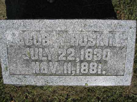HOSKINS, JACOB W. - Union County, Ohio | JACOB W. HOSKINS - Ohio Gravestone Photos
