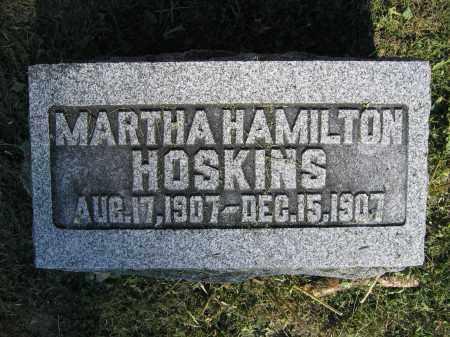 HOSKINS, MARTHA HAMILTON - Union County, Ohio | MARTHA HAMILTON HOSKINS - Ohio Gravestone Photos