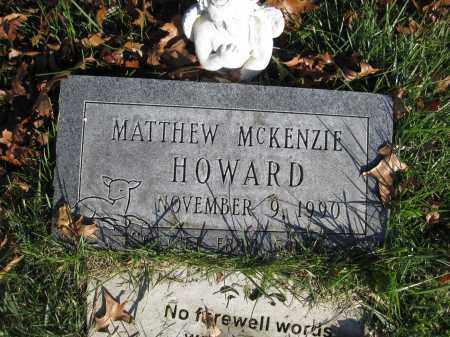 HOWARD, MATTHEW MCKENZIE - Union County, Ohio | MATTHEW MCKENZIE HOWARD - Ohio Gravestone Photos
