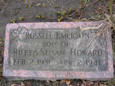 HOWARD, RUSSELL EMERSON - Union County, Ohio | RUSSELL EMERSON HOWARD - Ohio Gravestone Photos