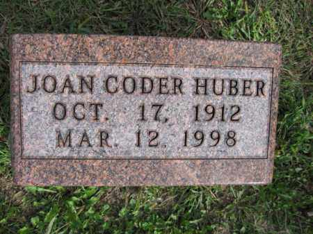 HUBER, JOAN CODER - Union County, Ohio | JOAN CODER HUBER - Ohio Gravestone Photos